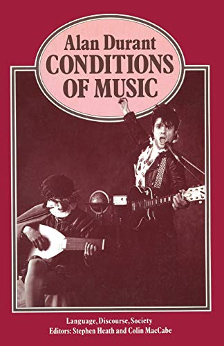 9780333372777: Conditions of Music