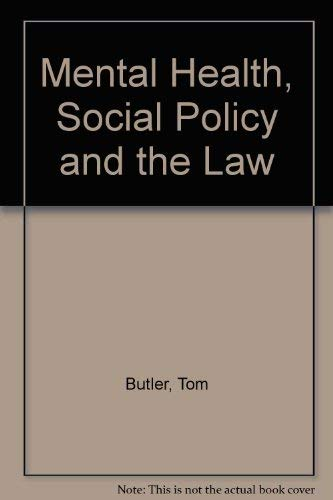 9780333373019: Mental Health, Social Policy and the Law