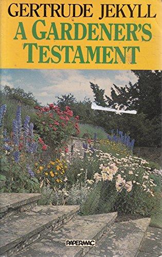 9780333376553: Papermac;Gardener's Testament