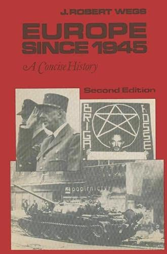 9780333376577: Europe Since 1945: A Concise History