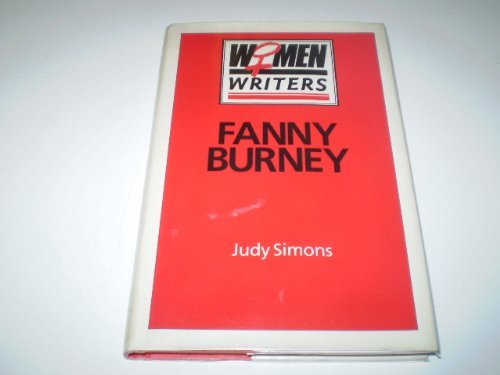 Fanny Burney: Simons, Judy
