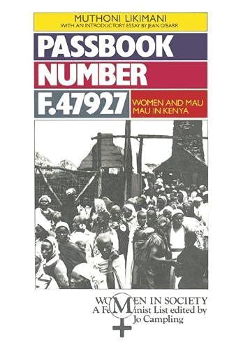 9780333379448: Passbook F47927: Women and Mau Mau in Kenya (Women in Society)