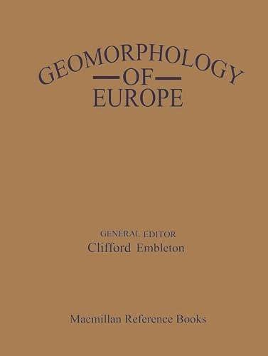 9780333379639: Geomorphology of Europe