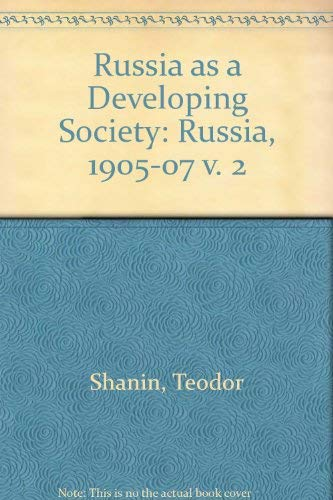 9780333382530: Russia as a Developing Society: Russia, 1905-07 v. 2