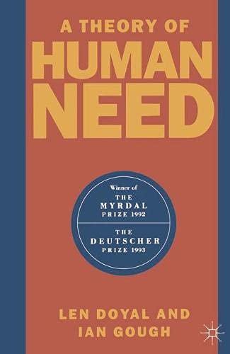 A Theory of Human Needs: Doyal, Len, Gough,