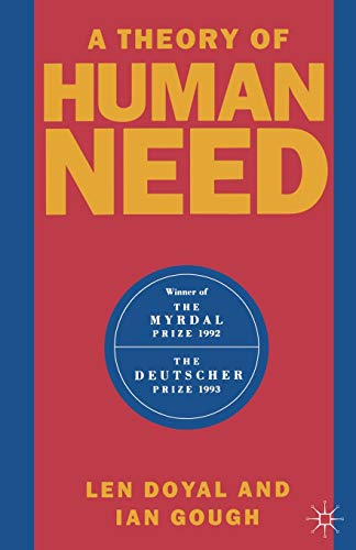 9780333383254: A Theory of Human Need