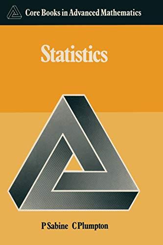 9780333383643: Statistics (Core Books in Advanced Mathematics)