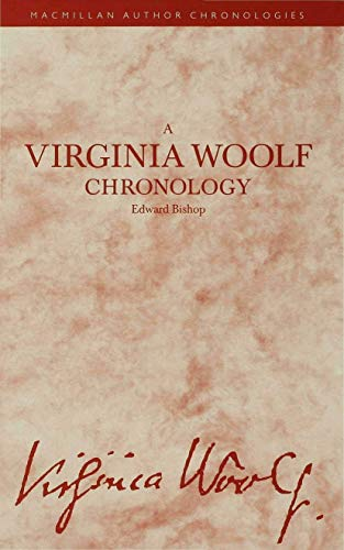 9780333388556: Virginia Woolf Chronolgy (Author Chronologies Series)