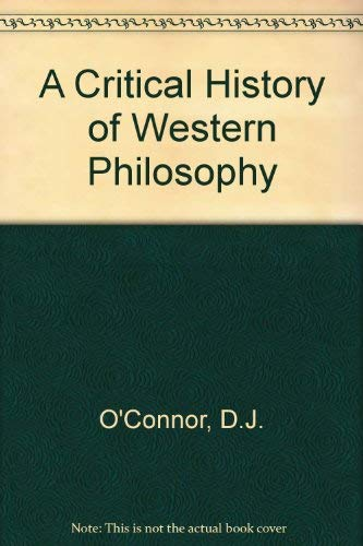 9780333393666: A Critical History of Western Philosophy