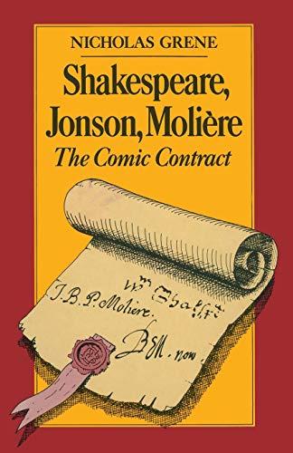 9780333395332: Shakespeare, Jonson, Molière: The Comic Contract