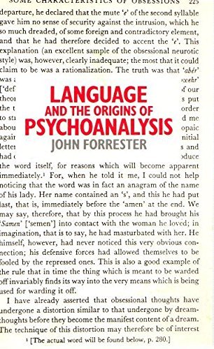 Language and the Origins of Psychoanalysis (0333395611) by Forrester, John