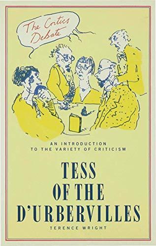 9780333395837: The Critics Debate: Tess Of The D'urbervilles