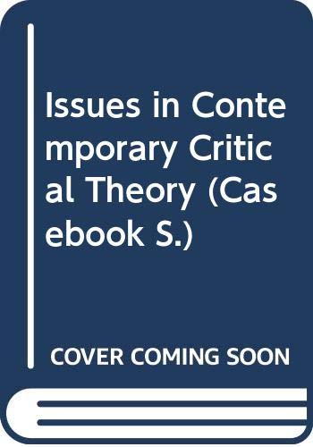 9780333398111: Issues in Contemporary Critical Theory (Casebook)