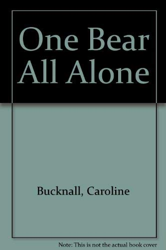9780333398197: One Bear All Alone