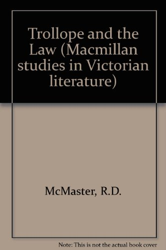 9780333400135: Trollope and the Law (Macmillan studies in Victorian literature)