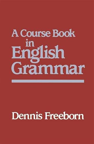 9780333405673: A Course Book in English Grammar (Studies in English Language)