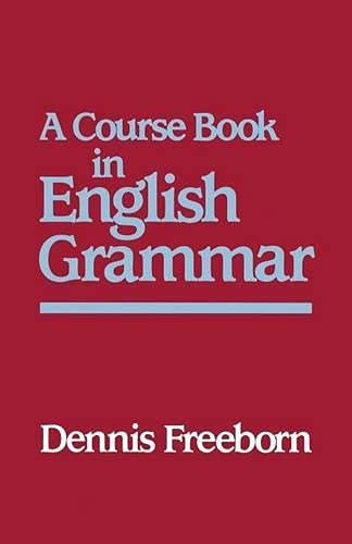 9780333405680: A Course Book in English Grammar (Studies in English Language)