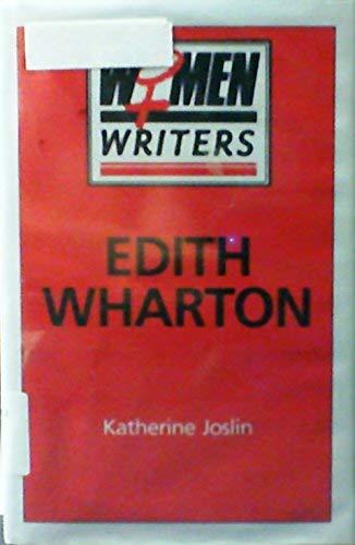 9780333407295: Edith Wharton (Women Writers)