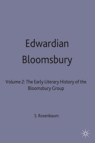 9780333408391: Edwardian Bloomsbury: The Early Literary History of the Bloomsbury Group Volume 2 (Vol 2)