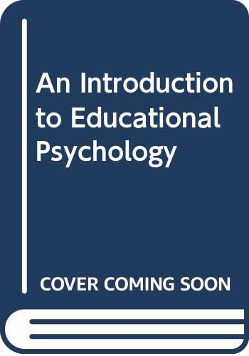 9780333409008: An Introduction to Educational Psychology