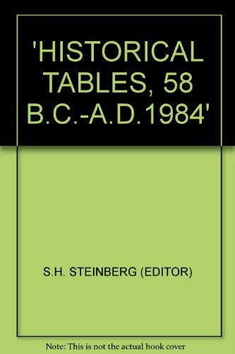 Historical Tables, 58 B. C.-A. D.1985: Steinberg, S.H.