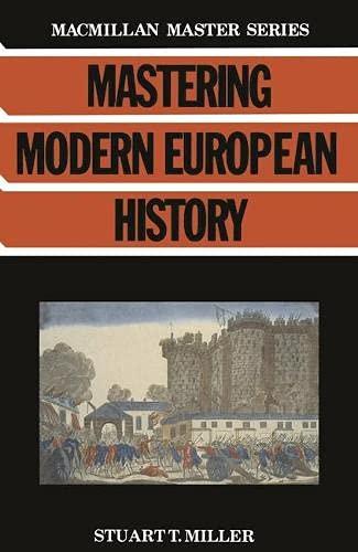 9780333412640: Mastering Modern European History