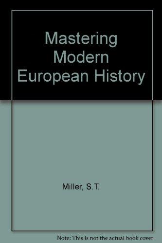9780333412664: Mastering Modern European History