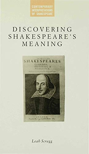 9780333414040: Discovering Shakespeare's Meaning (Contemporary Interpretations of Shakespeare)
