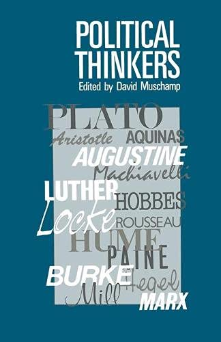 9780333415924: Political Thinkers