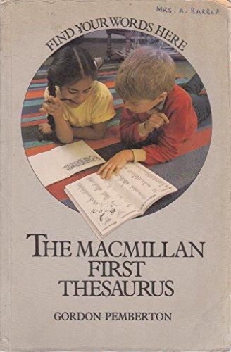 9780333416938: Macmillan First Thesaurus