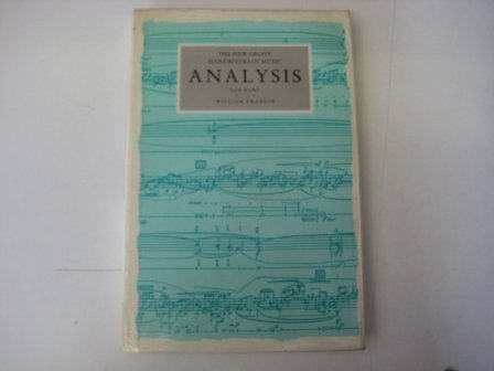 9780333417317: Analysis (New Grove Handbooks in Music)