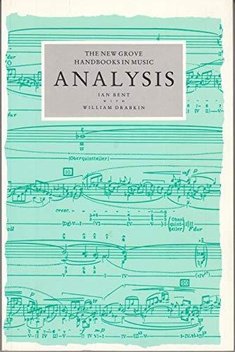 9780333417324: Analysis (New Grove Handbooks in Music)