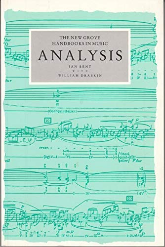 9780333417324: Analysis (New Grove Handbooks in Music)