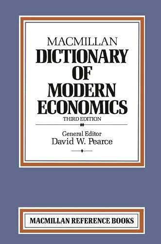 9780333417485: Macmillan Dictionary of Modern Economics (Dictionary Series)