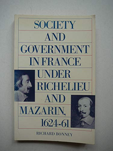 9780333418499: Social Government of France Under Richelieu and Mazarin