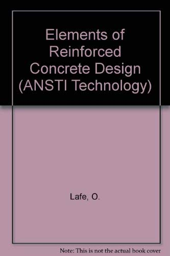9780333419427: Elements of Reinforced Concrete Design: (With an Introduction to Prestressed Concrete) (ANSTI Technology Series)