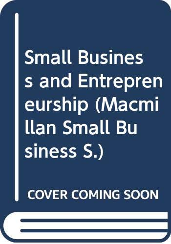 9780333420973: Small Business and Entrepreneurship