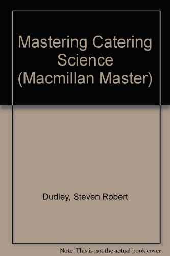 9780333421352: Mastering Catering Science (Macmillan Master S.)