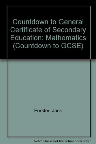 Mathematics (Countdown to GCSE) (9780333422052) by Forster, J.; Wardle, M.