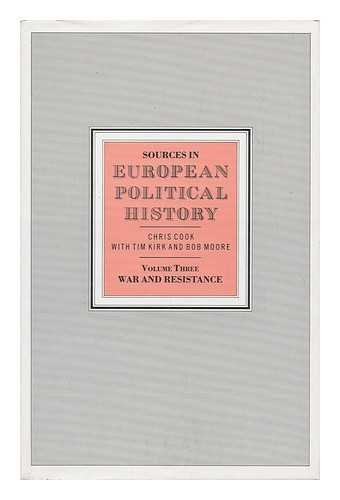 9780333423691: Sources in European Political History: War and Resistance v. 3