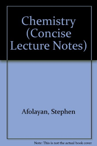 9780333423820: Chemistry (Concise Lecture Notes)