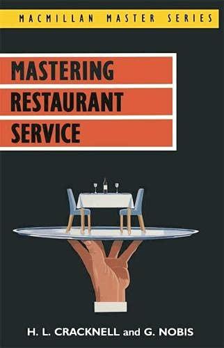 9780333426692: Mastering Restaurant Service (Macmillan Master)