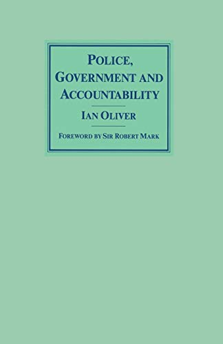 9780333432266: Police, Government and Accountability