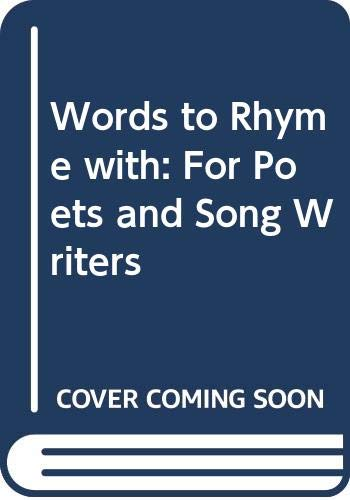 9780333434260: Words to Rhyme with: A Rhyming Dictionary