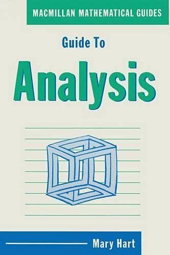 9780333437889: Guide to Analysis (Macmillan Mathematical Guides)