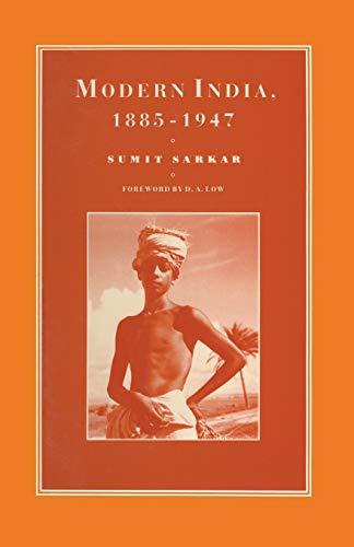 9780333438060: Modern India 1885–1947 (Cambridge Commonwealth Series)