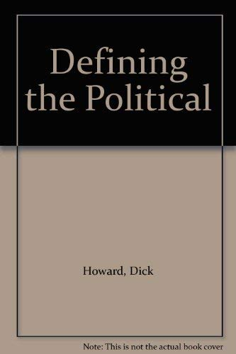 9780333440001: Defining the Political