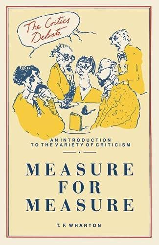 "9780333440643: ""Measure for Measure"" (Critics Debate)"