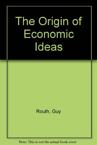 9780333443248: The Origin of Economic Ideas