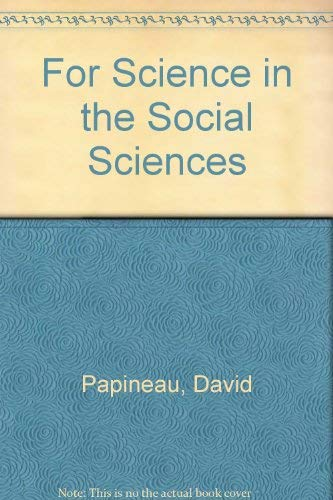 9780333443750: For Science in the Social Sciences